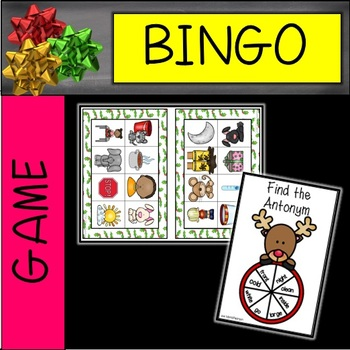 Christmas Antonyms and Synonyms Partner Bingo