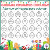 30 CHRISTMAS ORNAMENTS- COLOURING- BOLAS NAVIDAD COLOREAR.