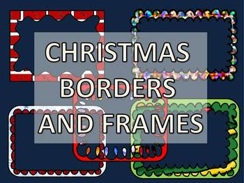 CHRISTMAS CLIPART: CHRISTMAS BORDERS AND FRAMES CLIPART PACK