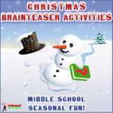 CHRISTMAS BRAINTEASER MYSTERY STORIES, RIDDLES & PUZZLES F