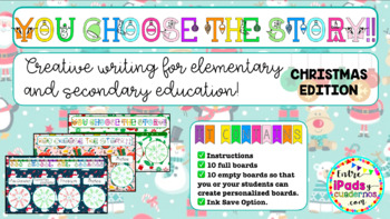 CHRISTMAS PACK: INVENT YOUR STORY BOARDS + CREATIVE WRITING CARDS!