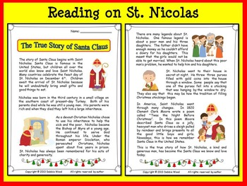 CHRISTMAS BUNDLE: The True Story of Santa Claus with SMART board