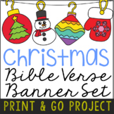 CHRISTMAS Banner Craft Project, Bible Verse Discovery Acti