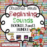 CHRISTMAS Beginning Sounds Interactive BUNDLE 1, 2, and 3