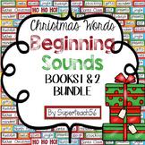 CHRISTMAS Beginning Sounds Interactive BUNDLE 1 & 2