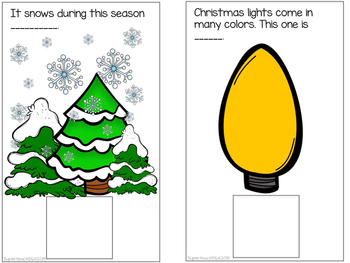 CHRISTMAS Beginning Sounds Interactive Book #3