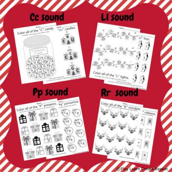 christmas worksheets beginning sounds fun phonics. Black Bedroom Furniture Sets. Home Design Ideas