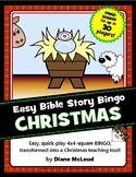 CHRISTMAS Bible Story Bingo - Easy 4x4-Block Format