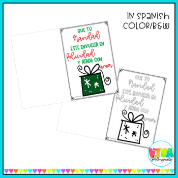 CHRISTMAS CARDS in english and spanish