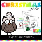 Tarjetas navideñas   Christmas Cards in English and Spanish