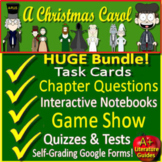 A Christmas Carol Novel Study Print AND Google Paperless with Self-Grading Tests