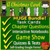 A Christmas Carol Novel Study Print AND Google Paperless with Self-Grading Tests