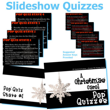 A CHRISTMAS CAROL 5 Pop Quizzes Bundle