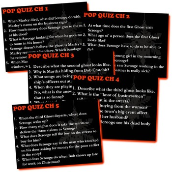 A CHRISTMAS CAROL 5 Pop Quizzes