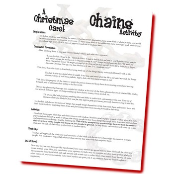 A CHRISTMAS CAROL Chains Activity & Discussion
