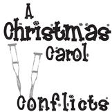 A CHRISTMAS CAROL Conflict Graphic Organizer - 6 Types