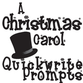 A CHRISTMAS CAROL Journal - Quickwrite Writing Prompts Slideshow