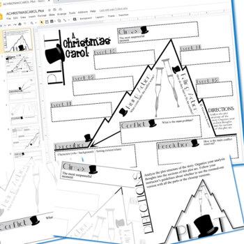 CHRISTMAS CAROL Plot Chart Organizer Arc Diagram - Freytag (Created for Digital)
