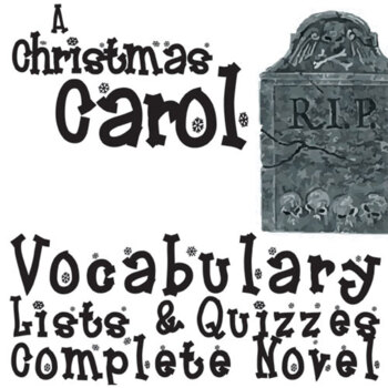 A CHRISTMAS CAROL Vocabulary Complete Novel (90 words)