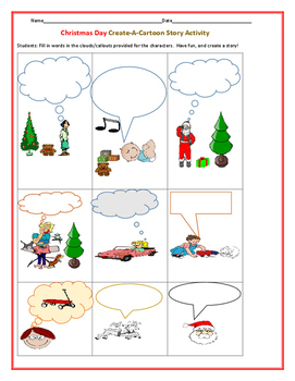 CHRISTMAS CARTOON: CREATE A STORY LINE
