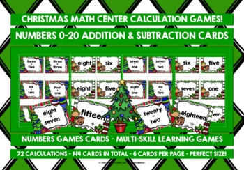 CHRISTMAS: CHRISTMAS NUMBERS 0-20 ADDITION & SUBTRACTION CARDS