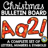 CHRISTMAS CLASSROOM DECORATION (RED AND GOLD BULLETIN BOARD LETTERS PRINTABLE)