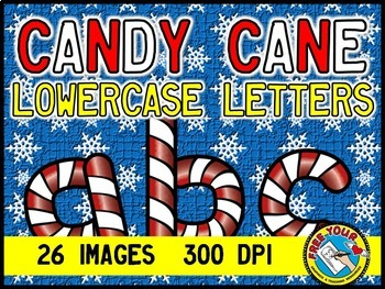 CHRISTMAS CLIP ART BUNDLE: CANDY CANE LETTERS, NUMBERS, SIGNS & SYMBOLS