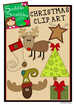 CHRISTMAS CLIP ART WITH 6 IMAGES