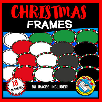 CHRISTMAS CLIPART BORDERS AND FRAMES BUNDLE