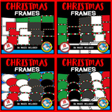 CHRISTMAS CLIPART BORDERS AND FRAMES BUNDLE