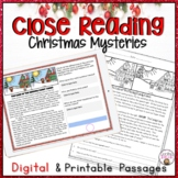 CLOSE READING PASSAGES CHRISTMAS MYSTERIES COMPREHENSION PRACTICE