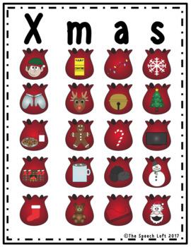 CHRISTMAS CLUES | BINGO & INFERENCING ACTIVITY | SPEECH & LANGUAGE |