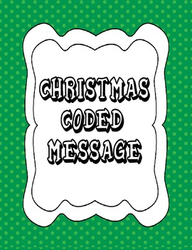 CHRISTMAS CODED MESSAGE