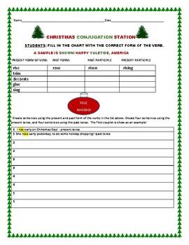 CHRISTMAS CONJUGATION STATION: VERBS