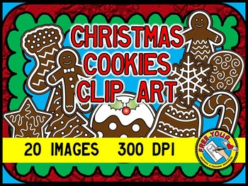 CHRISTMAS COOKIES CLIPART: CHRISTMAS CLIPART COOKIES: CHRISTMAS THEME CLIPART