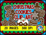 CHRISTMAS COOKIES CLIPART (GINGERBREAD PLAIN AND DECORATED IMAGES)