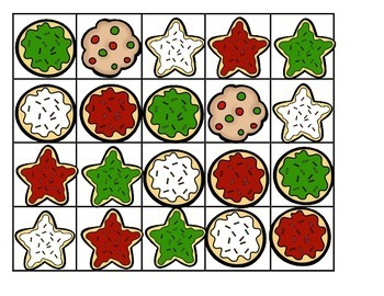CHRISTMAS COOKIES - 10-frame sets on cookie sheets