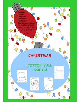 CHRISTMAS COTTON BALL CRAFTS