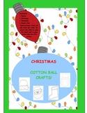 CHRISTMAS COTTON BALL CRAFTS