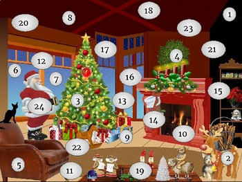 CHRISTMAS COUNTDOWN** - 24 INTERACTIVE TASKS (1/DAY)