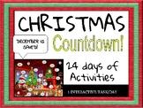 CHRISTMAS COUNTDOWN** - 24 INTERACTIVE TASKS (1/DAY)