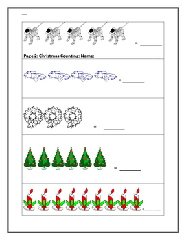 CHRISTMAS COUNTING ACTIVITY: K