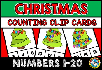 CHRISTMAS COUNTING CENTER: CHRISTMAS KINDERGARTEN COUNTING ACTIVITIES: 1-20