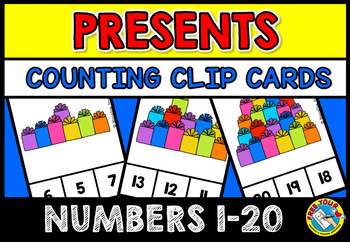 BIRTHDAY THEME COUNTING CENTER: KINDERGARTEN COUNTING ACTIVITIES (NUMBERS 1-20)