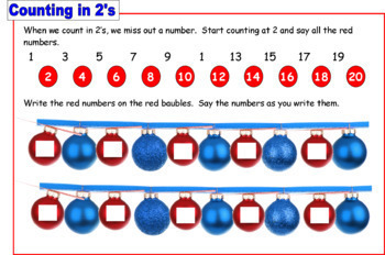 {CHRISTMAS COUNTING} {counting in twos} {counting in 2s}