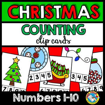 PRESCHOOL CHRISTMAS COUNTING ACTIVITIES KINDERGARTEN (NUMBERS 1-10)