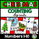 CHRISTMAS COUNTING ACTIVITY KINDERGARTEN (NUMBERS 1-10 DECEMBER MATH CENTER)