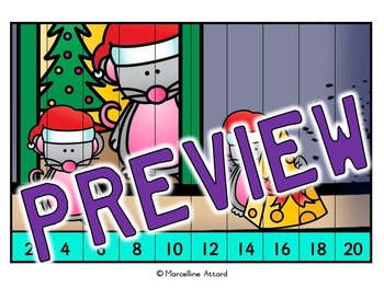 CHRISTMAS MATH CENTER: CHRISTMAS COUNTING PUZZLES