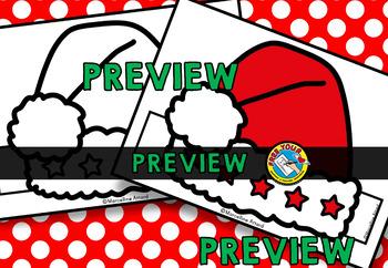 CHRISTMAS CRAFTS: SANTA HAT CRAFTS: NO PREP XMAS CRAFT HEADBAND