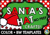 CHRISTMAS CRAFTS FOR PRESCHOOLERS (SANTA HAT) DECEMBER ACTIVITIES KINDERGARTEN